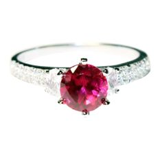 Solitaire Ruby Promise Ring – Red Cubic Zirconia