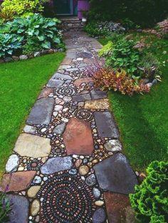 A beautiful garden entrance