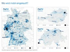 ​The map below shows where in Germany, Switzerland and Austria mobile shopping is most popular today already