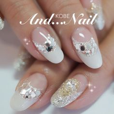 Oooh i like this New Year's Nails, Love Nails, Pretty Nails, Elegant Nails, Stylish Nails, Uñas Diy, Nail Techniques, Bridal Nail Art, Latest Nail Art