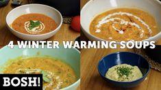 4 WINTER WARMING SOUPS | BOSH! | VEGAN