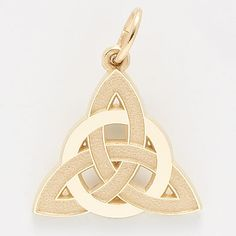 Rembrandt Celtic Charm.  $31.00  http://www.charmnjewelry.com/gold-charms.htm  #GoldCharm