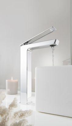 KH Zero 3 Tall Monobloc Bathroom Basin Tap from Kelly Hoppen at Crosswater http://www.crosswater.co.uk/product/designer-ranges-kh-zero-3/kh-zero-3-basin-monobloc-tall-kh03-112dnc/