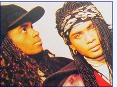 "the 80's Milli Vanilli- I still loved them even after I found out- ""blame it on the rain!"""