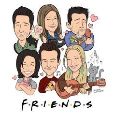 "Chandler Bing | Friends on Instagram: ""My new wallpaper ❤️ Follow me(@chandlerbingunofficial) if you love F.R.I.E.N.D.S ❤ Art by: @victorilustrador • • •…"""