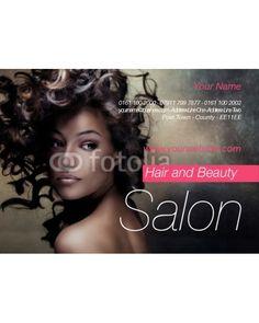 beauty leaflet template