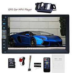 EinCar 7'' Touch Screen Car Stereo Radio Receiver Double 2 Din In Dash GPS Navigation Car MP5 MP3 Player Bluetooth Car Audio Multimedia System Support 1080P Video AUX +Backup Camera. For product info go to:  https://www.caraccessoriesonlinemarket.com/eincar-7-touch-screen-car-stereo-radio-receiver-double-2-din-in-dash-gps-navigation-car-mp5-mp3-player-bluetooth-car-audio-multimedia-system-support-1080p-video-aux-backup-camera/