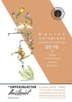 Creative Posters of AeroPress Championships 2016 Rad Coffee, Coffee Desk, Aeropress Coffee, Creative Posters, Fun Events, Barista, Graphic Design, World, Danish