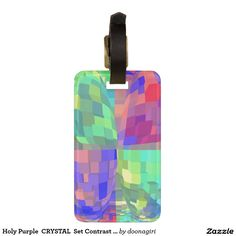 Holy Purple  CRYSTAL  Set Contrast Pattern Tag For Luggage