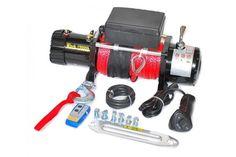 Електрическа лебедка със синтетично въже 5443 кг / 12000 LB - 12V - стоманено въже 28 метра - безжично дистанционно - джойстик - Цена - Продажба Vehicles, Car, Vehicle, Tools
