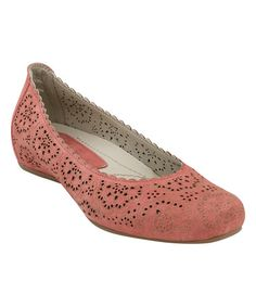 Love this Coral Cutout Bindi Leather Flat on #zulily! #zulilyfinds