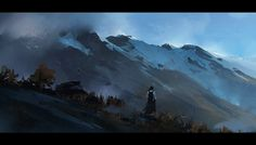 Mountains 1 by jamajurabaev on deviantART ★ || CHARACTER DESIGN REFERENCES | キャラクターデザイン • Find more artworks at https://www.facebook.com/CharacterDesignReferences & http://www.pinterest.com/characterdesigh and learn how to draw: #concept #art #animation #anime #comics || ★
