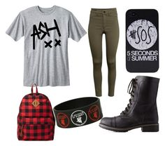 """""""Back To School ( 5SOS )"""" by zeniboo ❤ liked on Polyvore featuring Charlotte Russe, H&M and Forever 21"""
