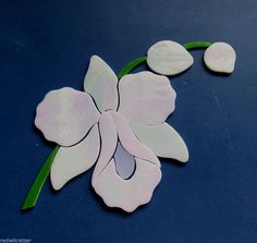 ORCHID FLOWER Precut Stained Glass Kit Mosaic Inlay. Many original designs selling on ebay.