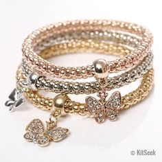 Do you ever look at your bracelets and think how much better they would be if there was more of them? Well we have the perfect bracelet set. The 3 piece crystal set is designed to have 3 interlocking bracelets that both accompany and enhance the look and feel of the others. Made using real crystals they have an incredible shine to them that is sure to get people talking. Great for both smart and casual outfits, they really can get any outfit looking stunning. Perfect for lovers of bracelets…