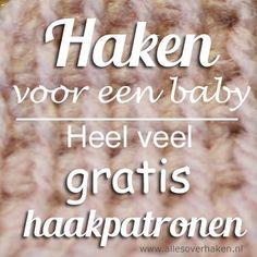 Free crochet patterns for babies in Dutch Gratis haakpatronen baby Love Crochet, Learn To Crochet, Crochet For Kids, Diy Crochet, Baby Patterns, Crochet Patterns, Knitting Patterns, Cute Baby Clothes, Baby Hacks