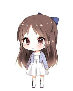 Anna is a loud 5 year old with a wild imagination. She loves to run and play with her siblings. Chibi Kawaii, Chibi Boy, Loli Kawaii, Cute Anime Chibi, Kawaii Art, Kawaii Anime Girl, Manga Cute, Chibi Girl Drawings, Kawaii Drawings