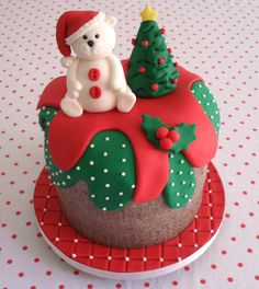 Cake Christmas Santa Fondant 36 Ideas For 2019 Christmas Cake Designs, Christmas Cake Decorations, Christmas Cupcakes, Christmas Sweets, Holiday Cakes, Christmas Goodies, Holiday Treats, Christmas Baking, Cake Decorating Techniques