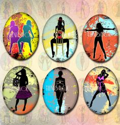 Digital Collage Sheet    25 ovals 30x40mm     by elenis4youbanners, €2.44