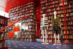 sonia rykiel tokyo aoyama store pop-up library book bookshelves shop #mannequins #CofradMannequins collection Theme