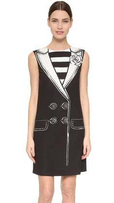 Boutique Moschino Sleeveless Trompe l'Oeil Dress