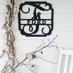 """Display your name proudly with this classic design!This versatile design looks great anywhere! The metal material allows this sign to be hung outdoors with no rust, and indoors too. Cut from metal. Measures 14.5"""". Powder coated black.Disclaimer:IF YOU LEAVE OUT YOUR INITIAL, WE WILL USE THE FIRST LETTER OF YOUR LAST NAME AS THE INITIAL! IF YOU DO NOT INCLUDE THE NAME ON YOUR SIGN IT WILL DELAY SHIP TIME!This item does not come with mounting hardware. Measure..."""