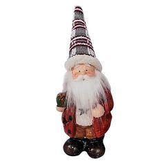 ΚΕΡΑΜΕΙΚΟΣ ΑΓΙΟΣ ΒΑΣΙΛΗΣ ΜΕ LED   (Υ31cm ΜΕ ΣΚΟΥΦΟ) 17x12x8m Xmas, Christmas Ornaments, Decorative Bells, Led, Holiday Decor, Home Decor, Style, Swag, Decoration Home