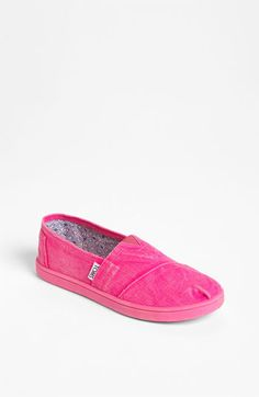 TOMS Classic Youth - Stonewash Slip-On (Toddler, Little Kid & Big Kid) available at #Nordstrom
