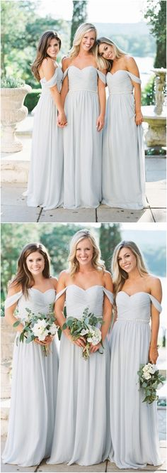 Off the shoulder bridesmaid dresses#weddings #dresses #weddingideas #bridesmaids ❤️ http://www.deerpearlflowers.com/bridesmaid-dress-trends-for-2018/