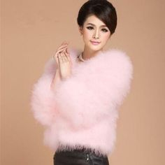 Winter Warm Womens Luxury Faux Fur Outwear Thicken Short Coats Soft Jacket New Fluffy Sweater, Angora Sweater, Pink Sweater, Coats For Women, Jackets For Women, Sweaters For Women, Gros Pull Mohair, Fur Clothing, Ebay Clothing
