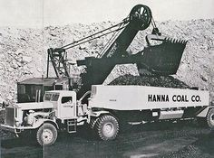 Bucyrus Erie 120 loading shovel and a 55 ton Euclid bottom dump truck. Used at the Bradford Mine Consol Coal Company, Georgetown, Ohio Heavy Construction Equipment, Heavy Equipment, Dump Trucks, Old Trucks, Mack Trucks, Surface Mining, Earth Moving Equipment, Caterpillar Equipment, Bucyrus Erie