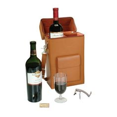 Richly finished in Luxurious Leather this is the essential case for the wine enthusiast.  This case has a plush, padded interior and features a removableadjustable separator, and a stainless steel corkscrew.  Complete with adjustable shoulder strap. The last word in Sophistication and Elegance for your favorite wines.  A Treasured Gift.                        For Personalization options e-mail:   contactusmystylewine.com
