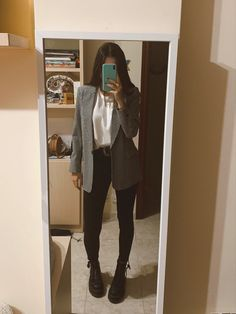 Business Casual Outfits, Cute Casual Outfits, New Outfits, Stylish Outfits, Fall Outfits, Look Blazer, Elegantes Outfit, Winter Fashion Outfits, Outfit Goals
