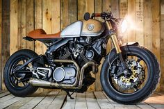 Avec ou sans moteur — caferacermotorcyclestyle:   The Brute from Belarus...