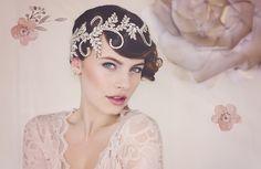 Diamante bridal headpiece by Gadegaard Design.