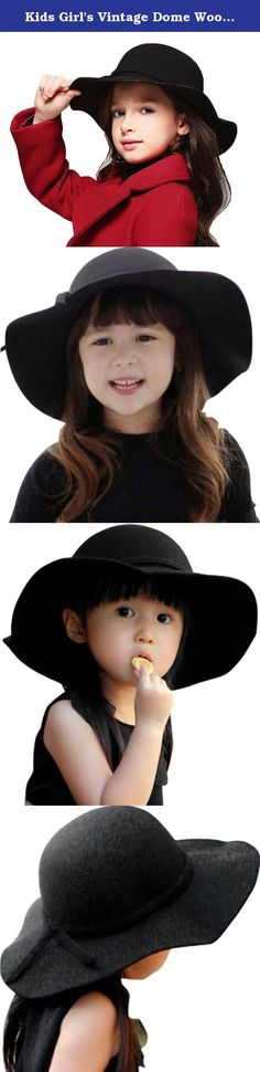 Kids Girl's Vintage Dome Wool Felt Bowler Cap Floppy Hat Bow,Black. Product Features: *Spend a small amount of money to get an elegant Luxury 100% Wool Floppy Fedora Hat with Bow; * The shape of this hat falls effortlessly into place with grace;Can match most styles of closes; *Great for dressing up or down, brings your cool girls simple; effortless style, it's the perfect accessory for all seasons; * Suitable for casual, holiday, summer beach activities, wide brim design protect you from...
