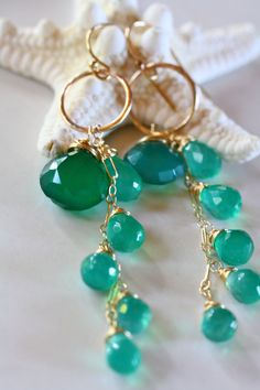 Andria Earrings  Pretty beach jewelry