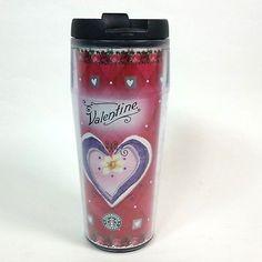 Starbucks Barista Valentine Travel Mug 2002 Hearts Coffee Cup 16 oz Tumbler