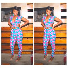 Ankara pants #Ankara, #NigerianFashion, #AfricanFabric Elegant Cross Top Premium Wax African Print  von ElegancebyOlive, $120.00