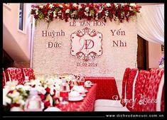 Order Of Wedding Ceremony, Wedding Set Up, Tea Ceremony, Diy Wedding, Traditional Vietnamese Wedding, Backdrops, Wedding Planning, Homes, Table Decorations