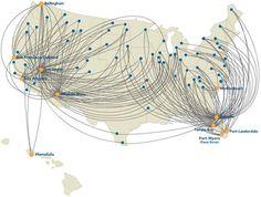 Allegiant route map.
