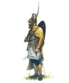 "Dacian Pileati by Jose Daniel Cabrera Peña. The ""Pileati"" where the Aristocratic Warrior Elite of the Dacians. Character Inspiration, Character Art, Character Design, Historical Art, Historical Pictures, Iron Age, Ancient Armor, Greek Warrior, Armadura Medieval"
