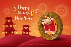 May this new year be filled with happiness, prosperity, and many precious moments with your loved ones. Happy Chinese New Year 2021! Chinese New Year Images, Chinese New Year Greeting, New Year Greeting Cards, Happy Chinese New Year, Happy New Year Text, Happy New Year Greetings, New Year Symbols, Chinese New Year Background, Chinese New Year Activities