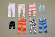 DIY Sew or Serge Leggings For Any Age. Dana and Miranda show you two ways to make leggings for any age.