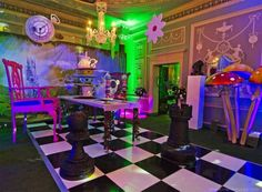 Alice in Wonderland Party Theme | Props, Ideas, Decorations & Supplies: Giant Purple Dining Chair