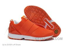 Buy Adidas Casual Shoes Men ZX Flux Slip On Orange White Top Deals from  Reliable Adidas Casual Shoes Men ZX Flux Slip On Orange White Top Deals  suppliers.