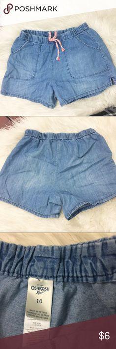 Girls Oshkosh chambray cotton summer shorts Good condition, size 10. Price firm, bundle for savings Osh Kosh Bottoms Shorts