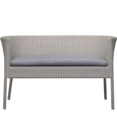 "Mirelle 2 Seat Bench BY CASUALIFE D 22"" W 48"" H 29""  White Wash"