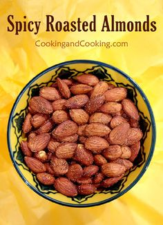Spicy Roasted Almonds Recipe Spicy Roasted Almonds Recipe, Buttercup Squash, Florentines Recipe, Layered Jello, Around The World Food, Lentil Salad, Raw Almonds, Appetizer Dips, Almond Recipes