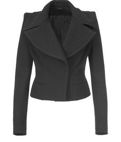 Givenchy Black Short Wool Jacket, love the shape